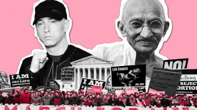 Eminem, Ghandi, and protesters