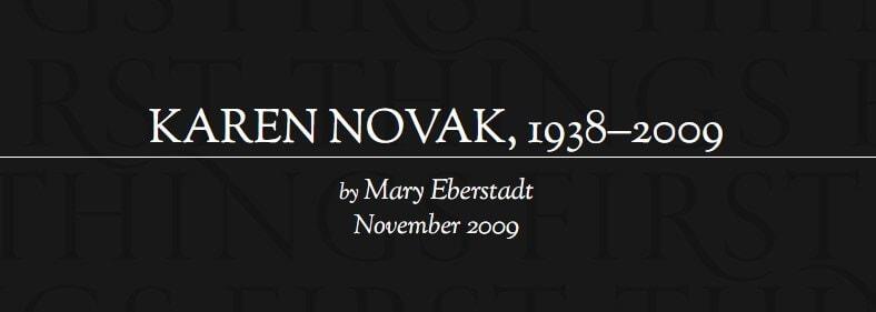 KAREN NOVAK, 1938–2009
